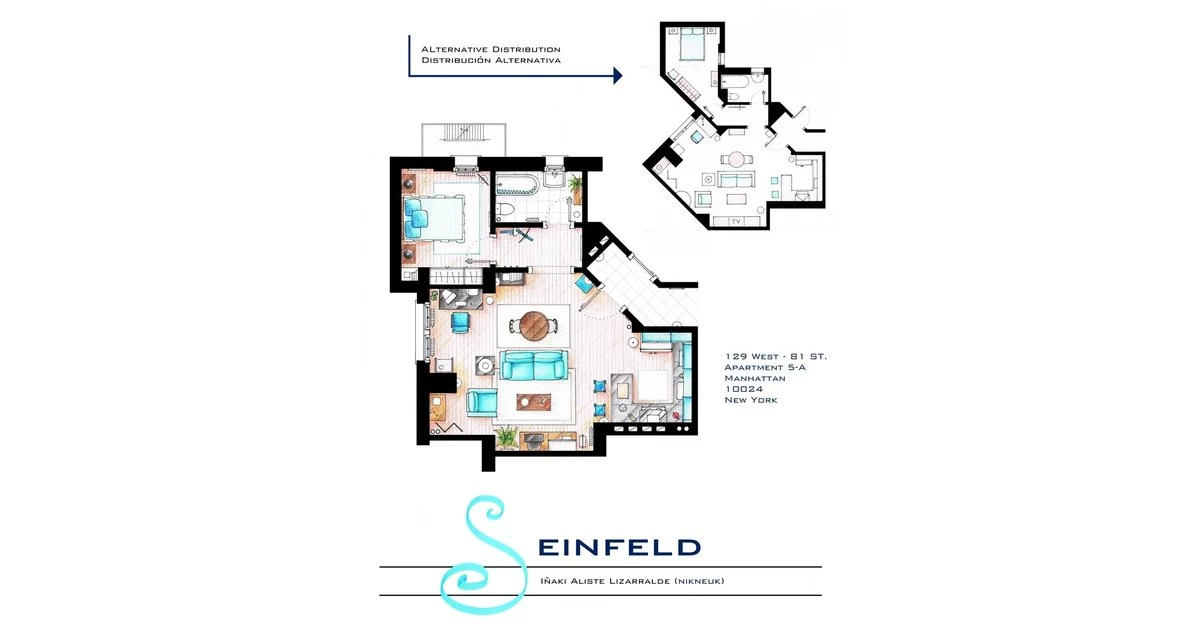 Seinfeld Floor Plans For Houses In Tv Shows And Movies