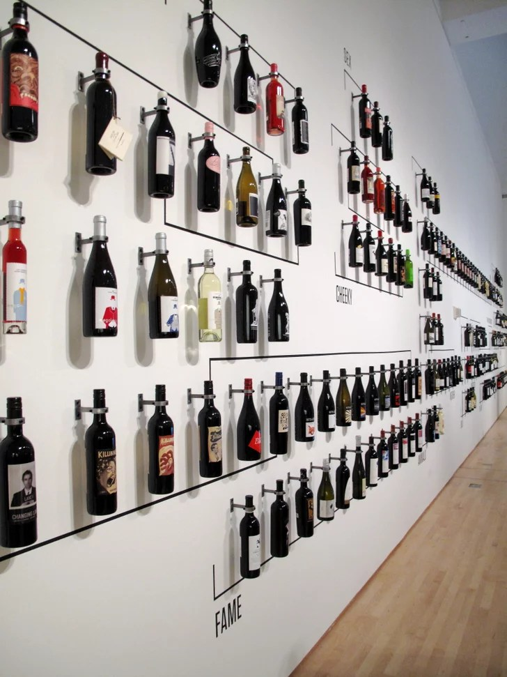 "Pared Vidrio Wall Of Wine Bottles | Pictures Of The ""how Wine Became"