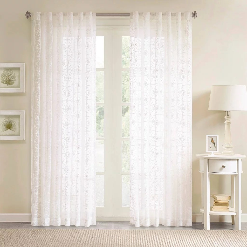 White Sheer Door Panel Curtains From Target Popsugar Home