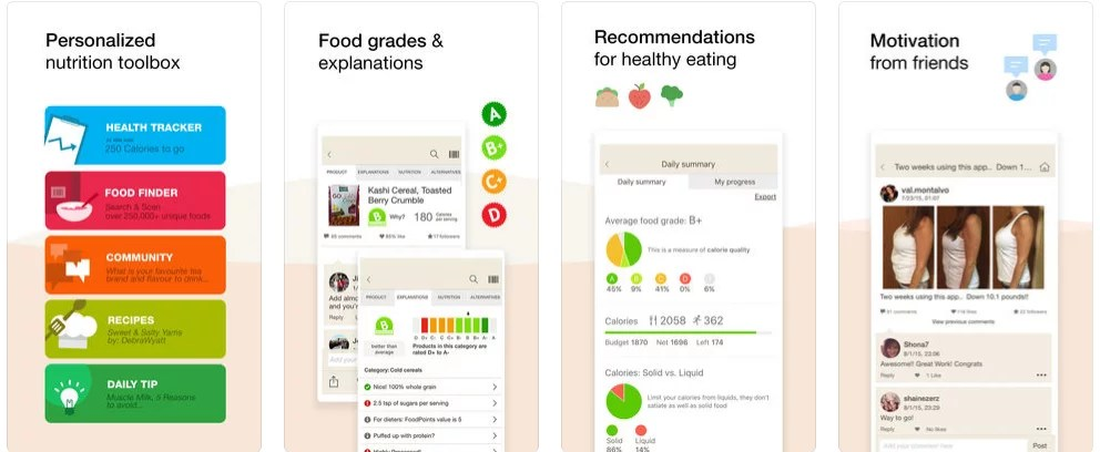 Fooducate Nutrition Tracker Healthy Eating Apps POPSUGAR Fitness - nutrition tracker