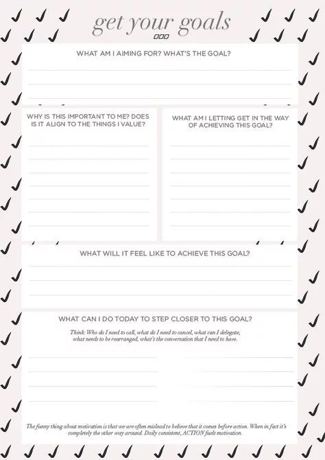 Free Printable Goal Sheets POPSUGAR Smart Living