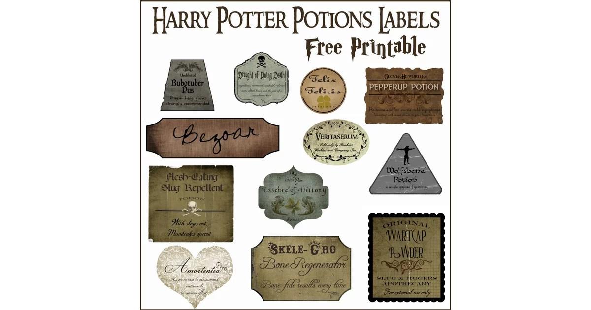 Print Out Potions Labels Harry Potter DIYs POPSUGAR Smart Living