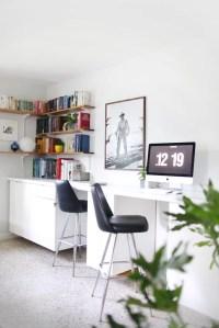 Custom Built-In Desks | Ikea Desk Hacks | POPSUGAR Home ...