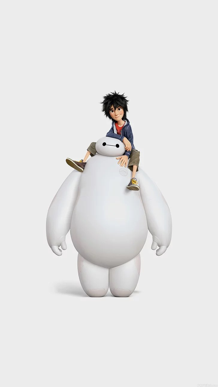 Cute Chat Wallpaper For Whatsapp Hiro And Baymax From Big Hero 6 Disney Iphone Wallpapers