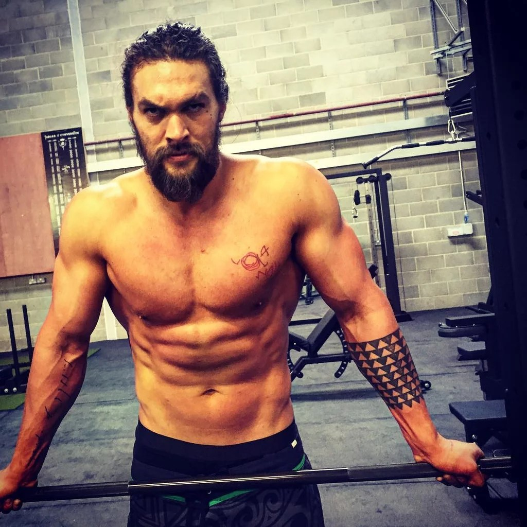 Jason Momoa Jason Momoa Workout Progress Pictures Popsugar Fitness