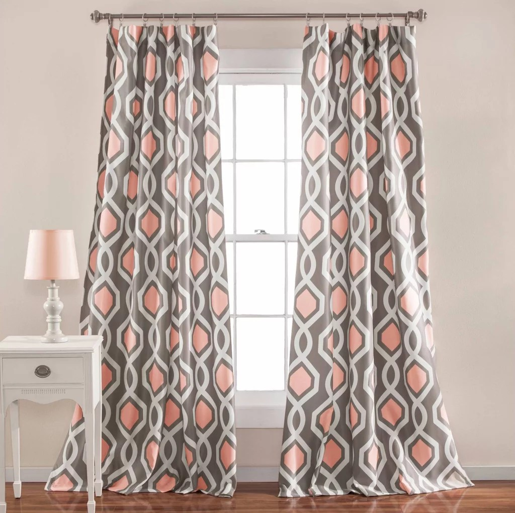 Target Curtain Panels Lush Decor Iron Gate Window Curtain Panel Set From Target