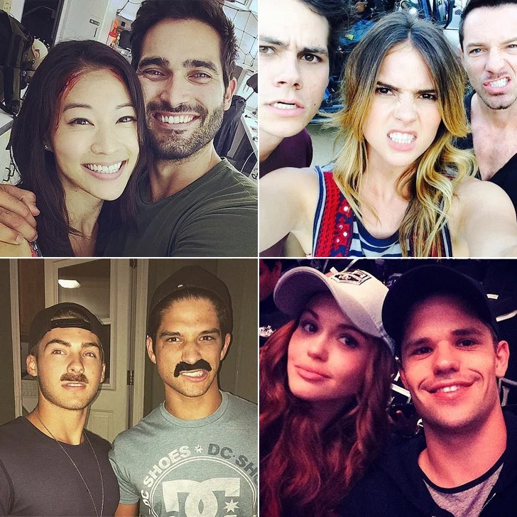 Cute Lovable Couple Wallpapers Teen Wolf Cast Instagram Pictures Popsugar Celebrity