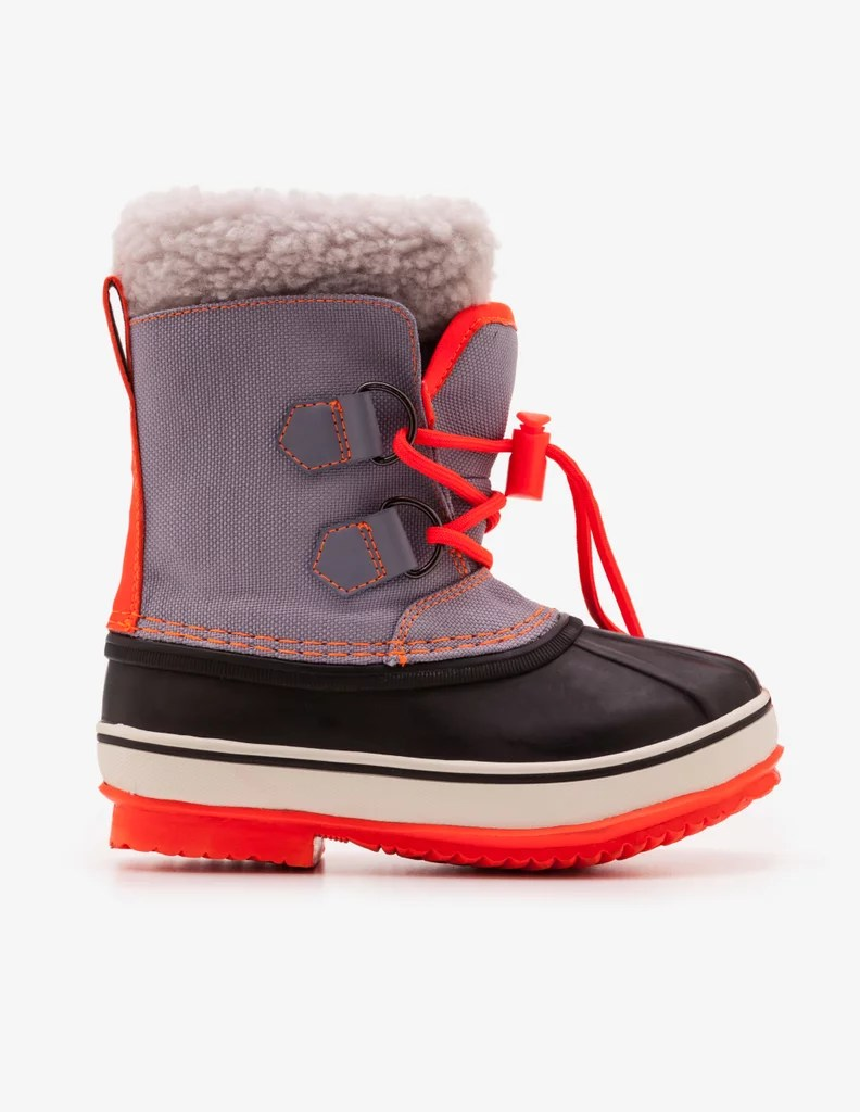 Boden 24 Mini Boden Raft Gray Snow Boots Best Snow Boots For Kids 2018
