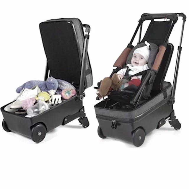 Carriage Pram Stroller A Suitcase That Turns Into A Stroller Video Popsugar