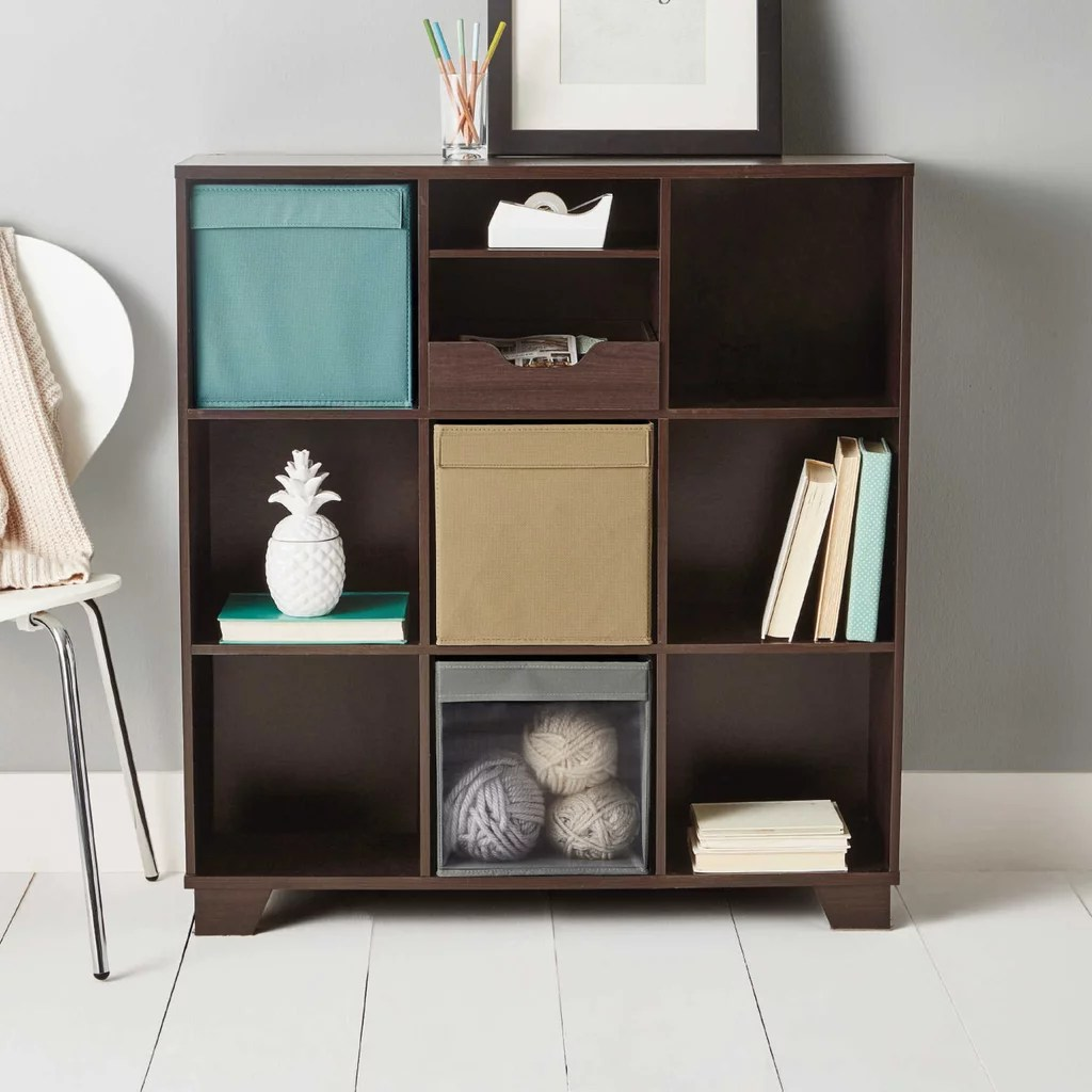 Living Room Storage Units Real Simple 9 Cube Storage Unit Living Room Organization