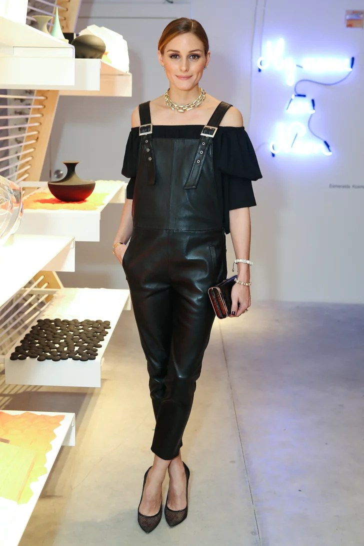 Latzhose Baby Meet Your Edgy Leather Overalls With A Feminine Blouse To