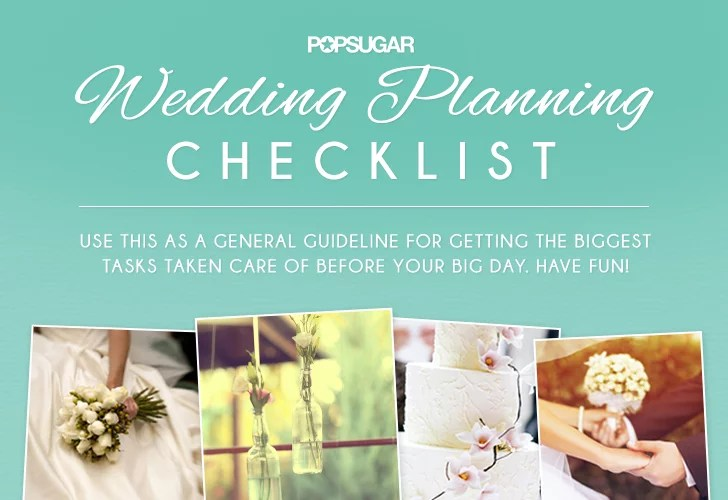 Wedding Planning Checklist POPSUGAR Australia Smart Living