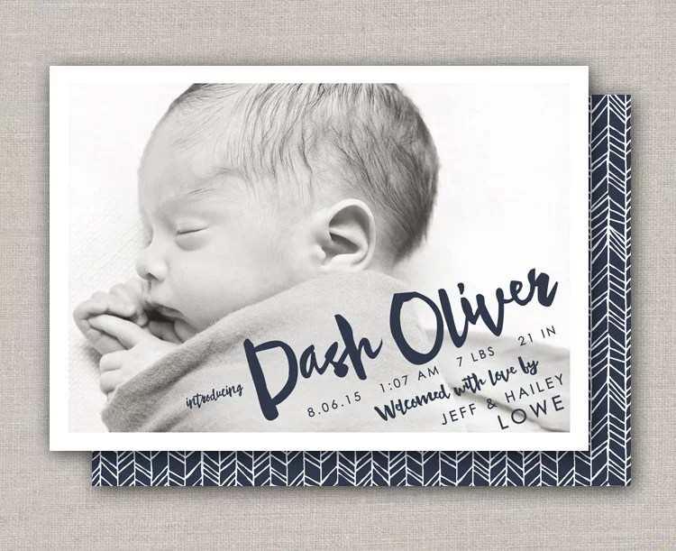 Baby Boy Card ($15) Etsy Birth Announcement Photo Cards POPSUGAR
