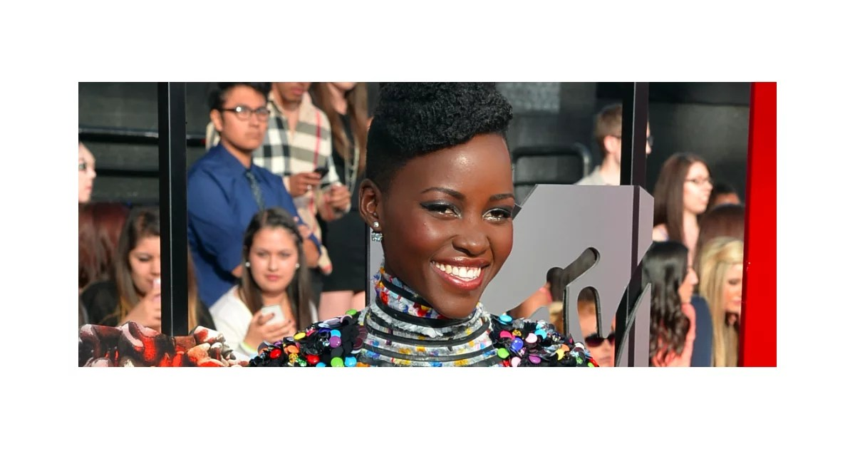 Lupita Nyong39o Hair And Makeup At Mtv Movie Awards 2014