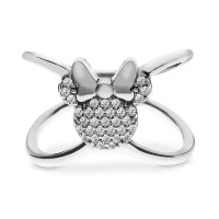 Sterling silver Minnie Mouse X Ring ($75) | Disney ...