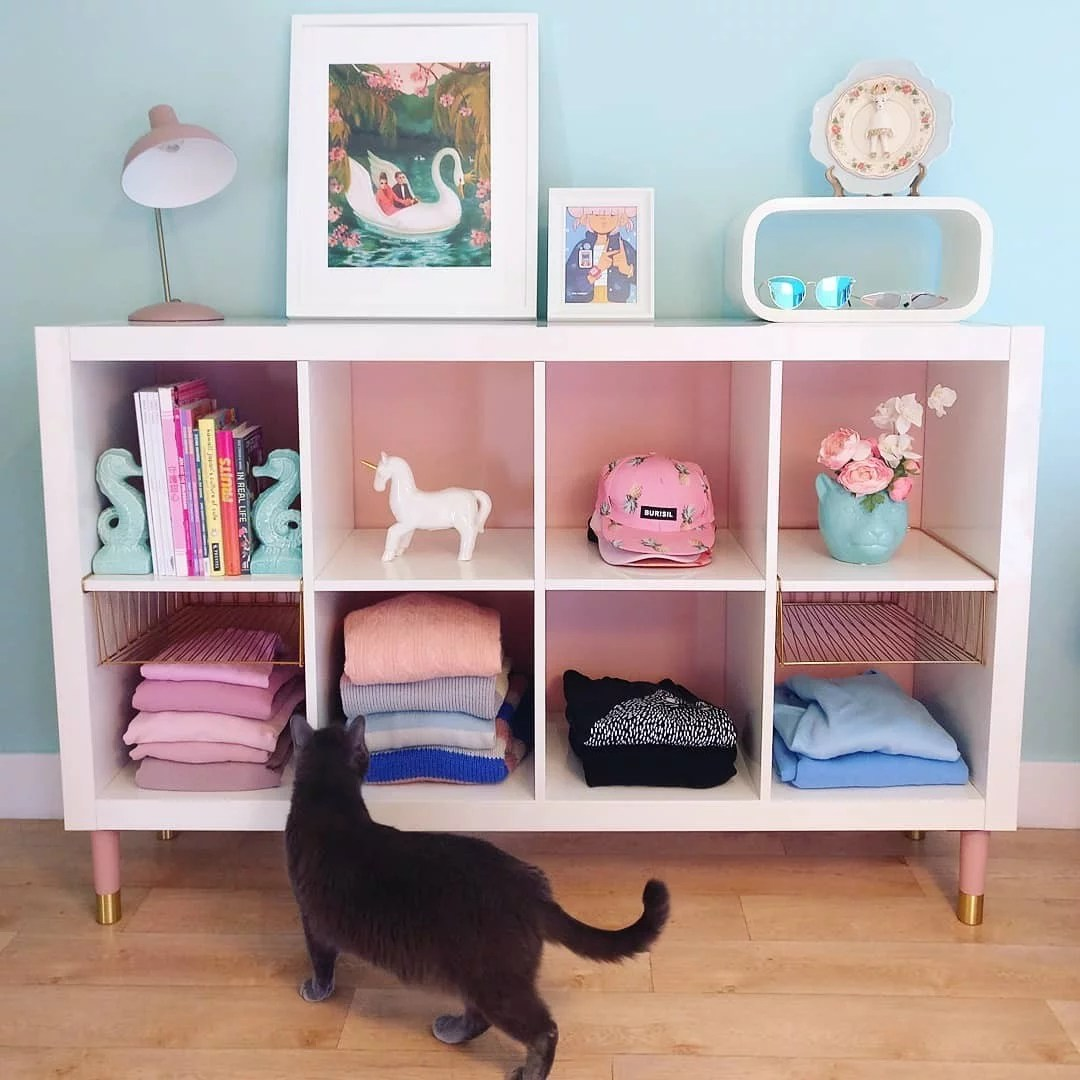 Ikea Kallax Cd Storage Ikea Kallax Shelves Ideas Popsugar Home