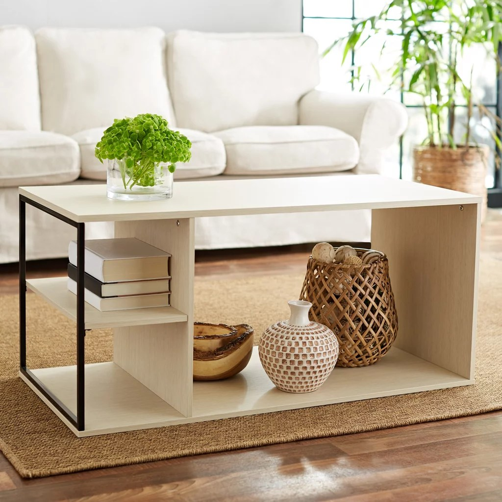 Metal Coffee Table Mainstays Kalla Wood And Metal Coffee Table Best Cheap Coffee