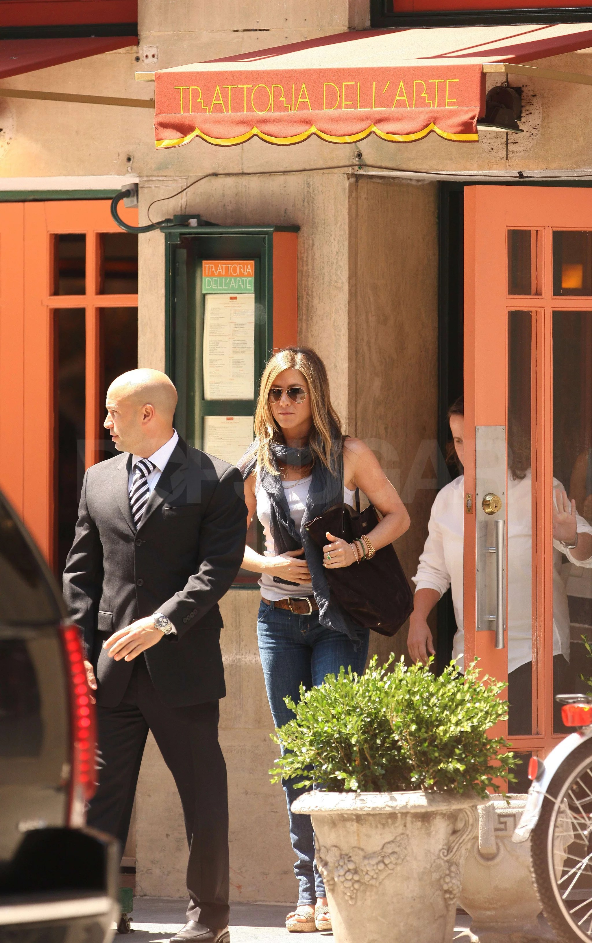 Trattoria Dell'arte Nyc Menu Pictures Of Jennifer Aniston Leaving Trattoria Dell 39arte