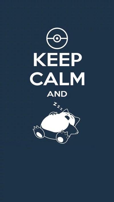 Keep calm and snorlax | Inspiring iPhone Wallpapers | POPSUGAR Tech Photo 24