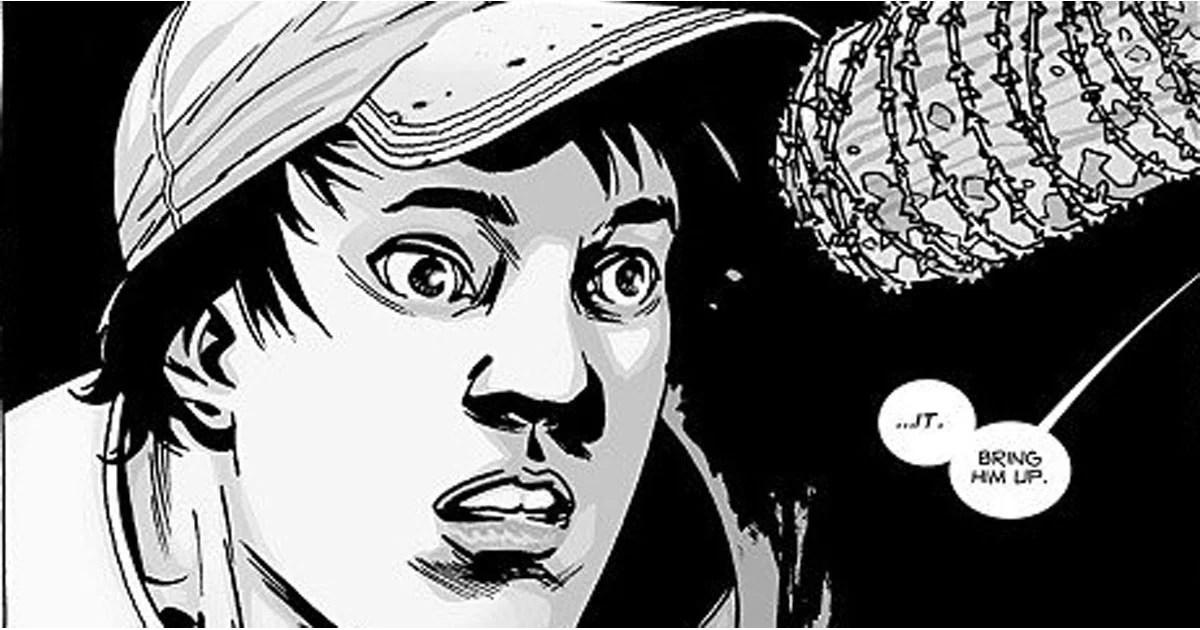 Negan Killing Glenn in The Walking Dead Comic Books POPSUGAR
