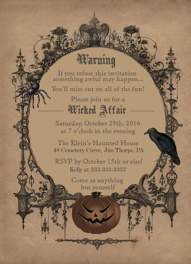 Printable \ - halloween invitation