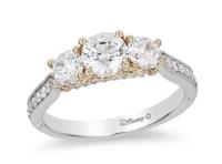 Disney Cinderella Diamond Three Stone Engagement Ring ...