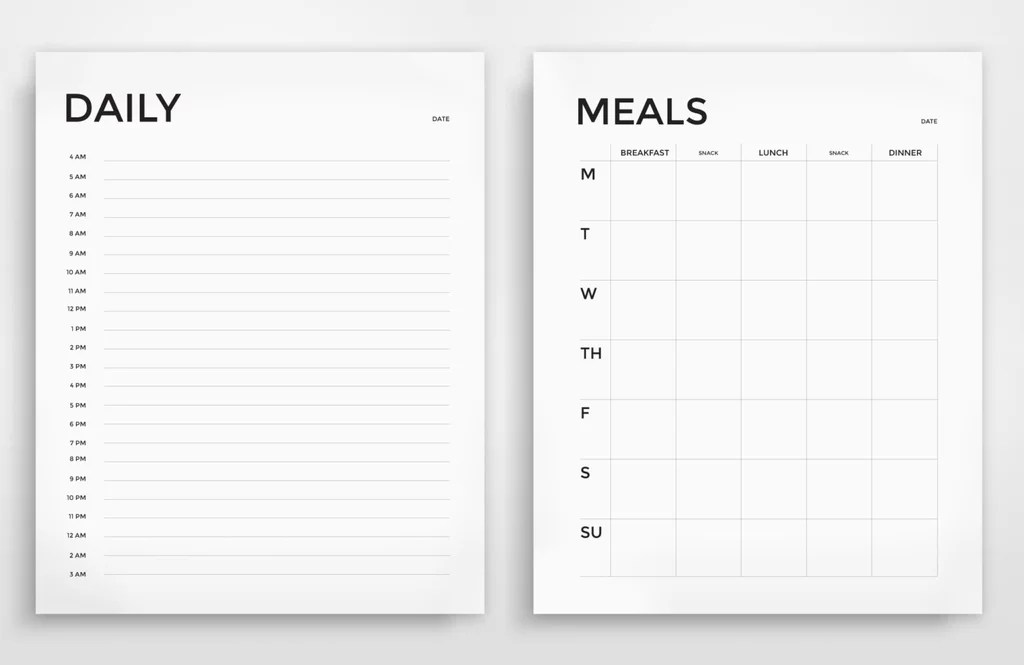 Printable Daily and Weekly Meal Planner ($4) Printable Meal