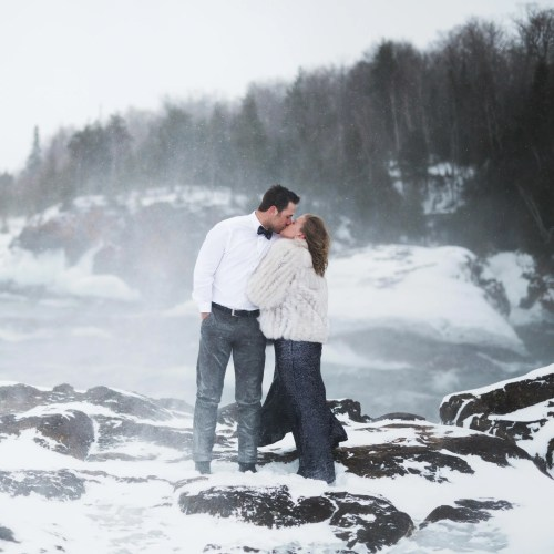 Medium Crop Of Winter Engagement Photos