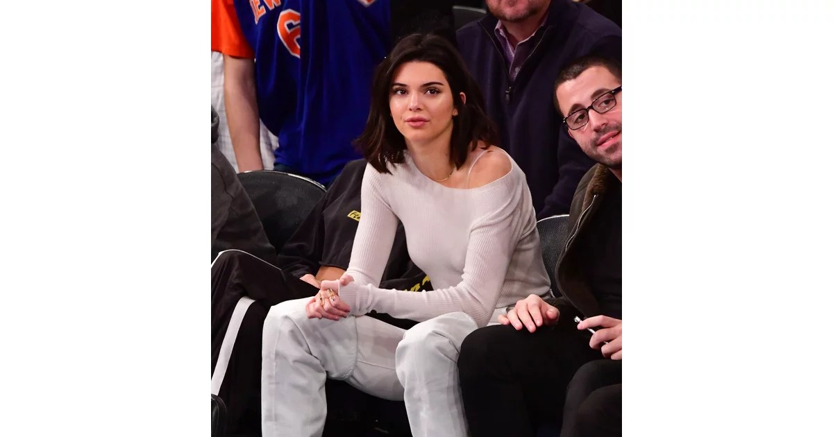 Kendall Jenner White Thigh High Boots Popsugar Fashion