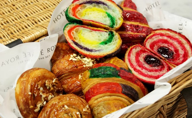 World S First Rainbow Croissants At Cafe Royale London Popsugar Middle East Food