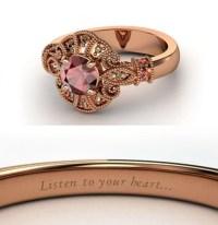 Red garnet Pocahontas Engagement Ring ($1,125) | Disney ...