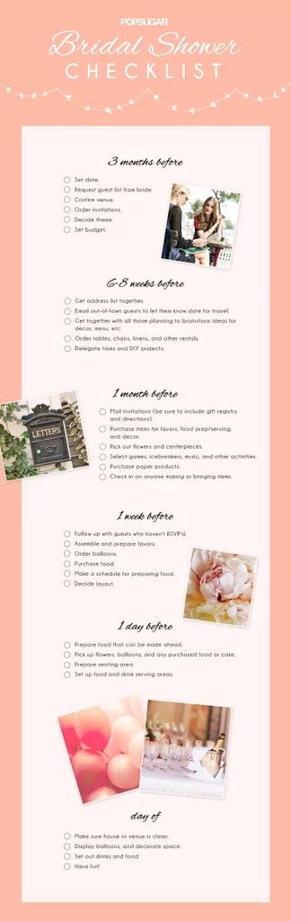 Bridal Shower Checklist POPSUGAR Love  Sex