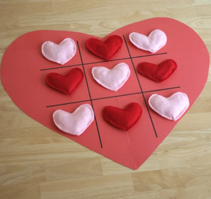 Valentine Tic-Tac-Toe Heart Valentine\u0027s Day Crafts For Toddlers