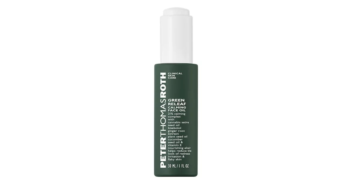 Peter Thomas Roth Green Releaf Calming Face Oil Top