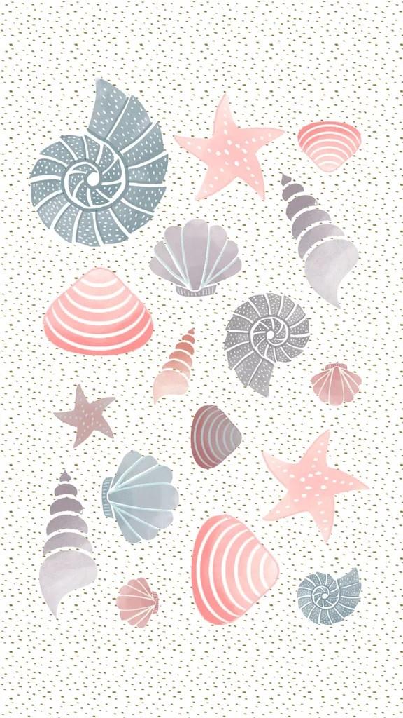 Flamingo Iphone Wallpaper Shells Iphone Wallpaper Popsugar Tech Photo 1