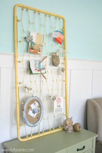 Shabby-Chic Bulletin Board   How to Reuse a Crib Mattress ...