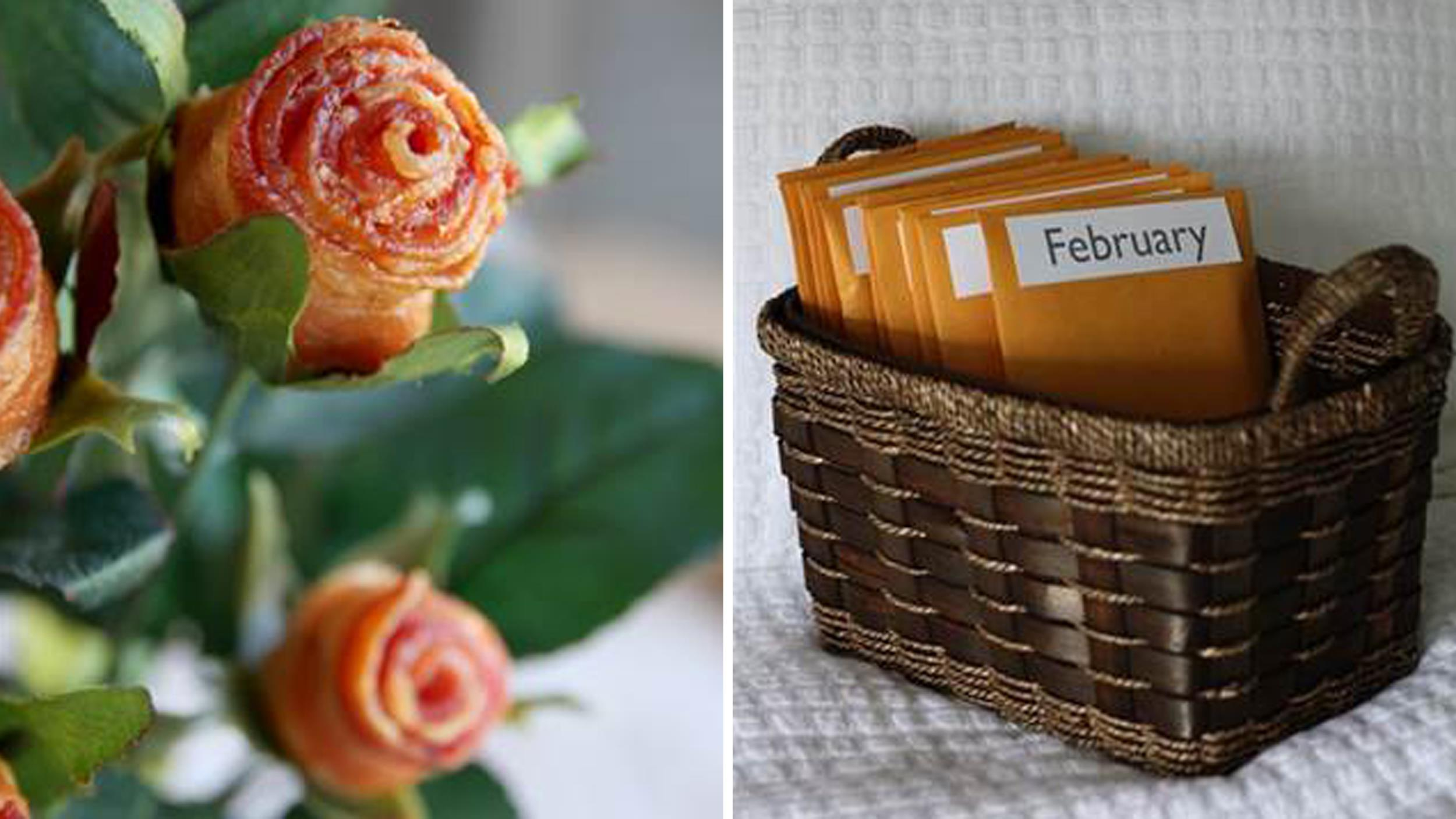 Diy Pinterest Bacon Roses And More Pinterest Inspired Diy Valentine S Day Gifts