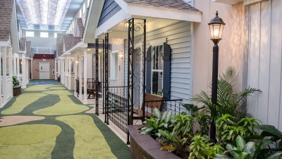 Lantern indoor assisted living center features front ...