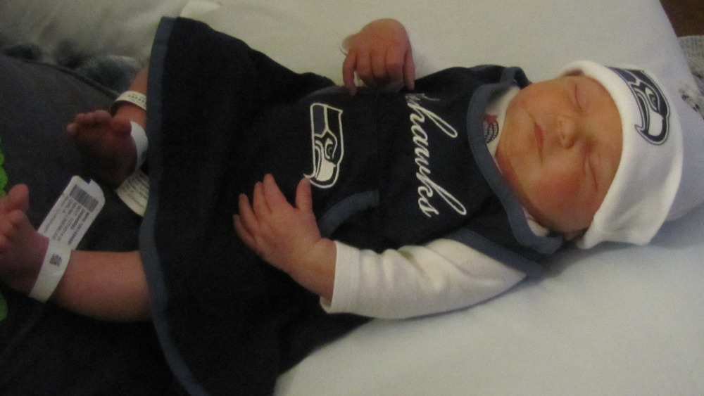 Newborn Car Seat Target Seattle Seahawks Fans Name Baby 39;12th Mann 39; Today