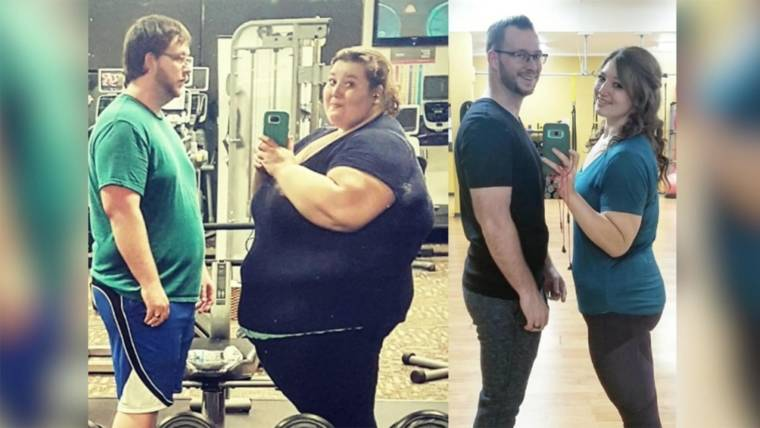 Couple loses 407 pounds in 3 years after New Year\u0027s resolution
