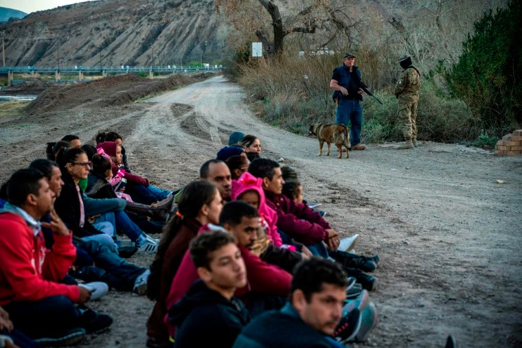 Armed group that detained migrants in New Mexico vacated camp after