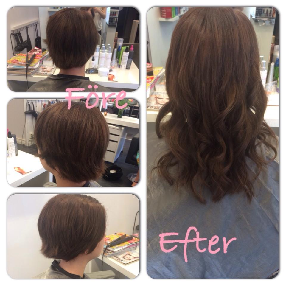 extensions til kort hår