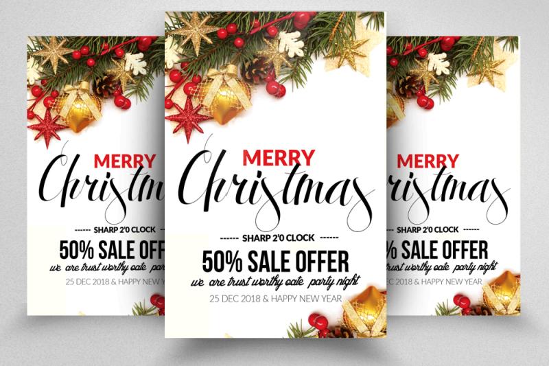 Christmas Flyer Templates By Designhub TheHungryJPEG