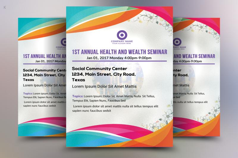 Health Seminar Flyer By Ayme Designs TheHungryJPEG
