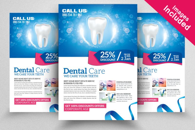 Dental Flyer Design Templates By Designhub TheHungryJPEG
