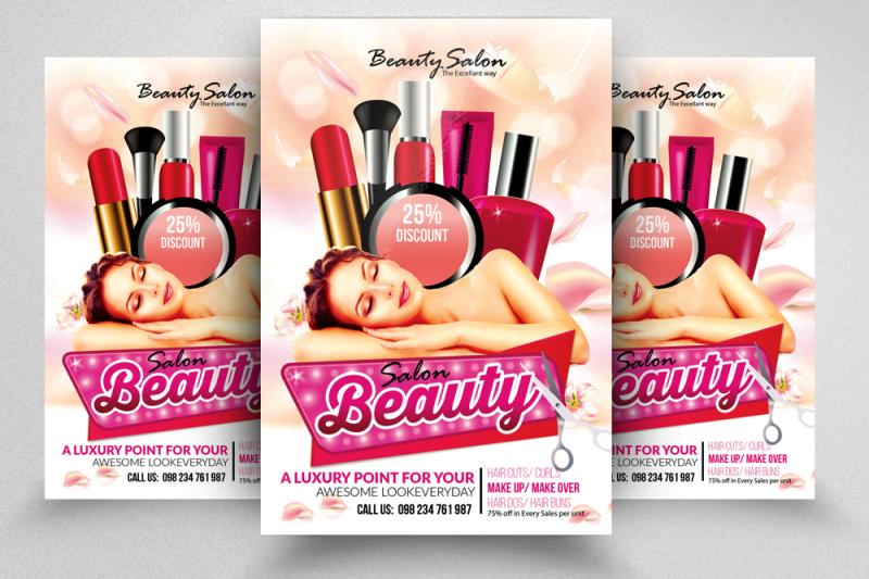 Beauty Salon Flyer Template By Designhub TheHungryJPEG