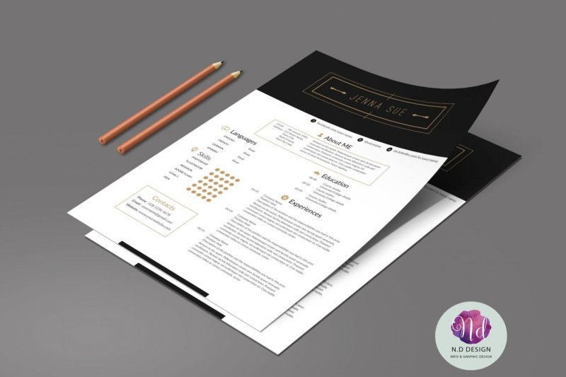 Modern Resume Template By Chic templates TheHungryJPEG