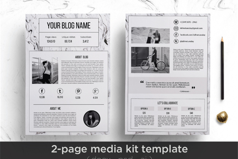 Media kit template By Chic templates TheHungryJPEG