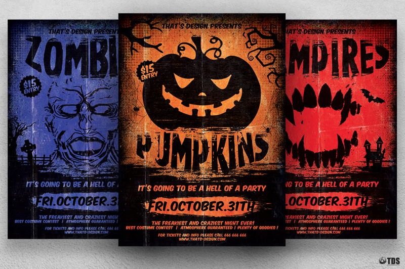 Halloween Flyer Template V4 By Thats Design Store TheHungryJPEG