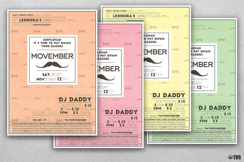 Movember Flyer Template V2 By Thats Design Store TheHungryJPEG